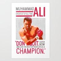 Muhammad Ali - G.O.A.T. Art Print