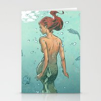 mermaid Stationery Cards featuring Mermaid by Eric Persson