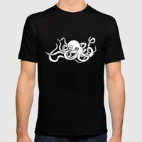 8 Arms in Motion V2 Mens Fitted Tee Black SMALL