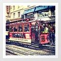 San Francisco Cable Car Art Print
