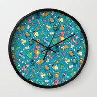 Dungeons & Patterns Wall Clock