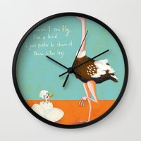 Confident Ostrich Wall Clock