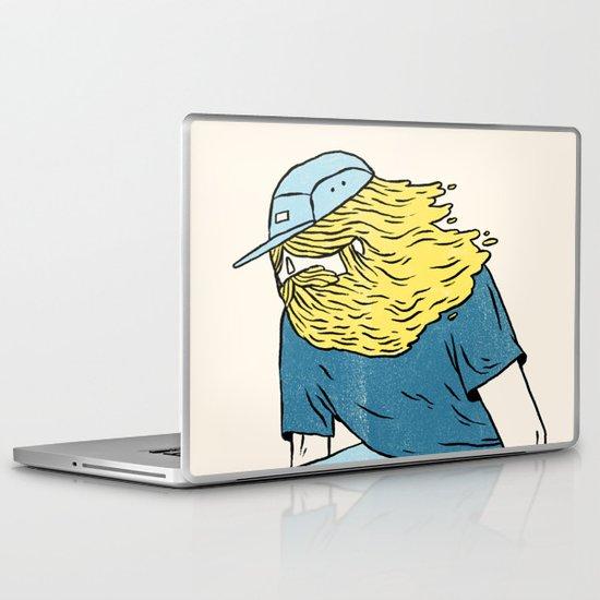 Skate Beard Laptop & iPad Skin