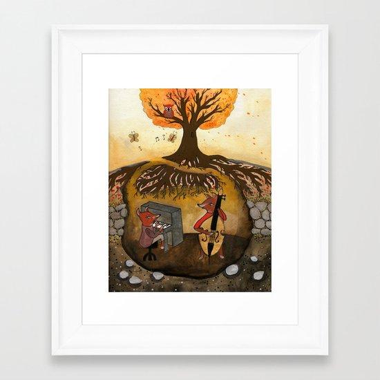 Fox Jam  Framed Art Print