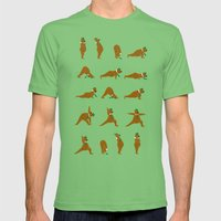 Yoga Bear - Classic Mens Fitted Tee Grass SMALL