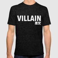 Villain 悪党 Mens Fitted Tee Tri-Black SMALL