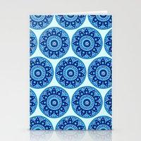 Blue Mandala Repeat Stationery Cards
