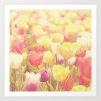 life isn't a tiptoe through the tulips ... Art Print