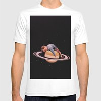 Sleeping On Stars Mens Fitted Tee White SMALL