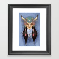Mongolian Princess Framed Art Print