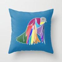 Bird - Blue Throw Pillow