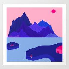 Mountain Hike//Missing Bike Art Print