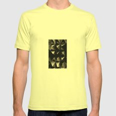 Textured Wall Facade Mens Fitted Tee Lemon SMALL
