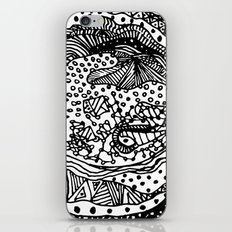 Full Moon Love - BW iPhone & iPod Skin