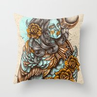 Harpie Throw Pillow