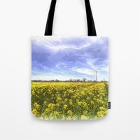 Yellow Fields Of Summer Art Tote Bag