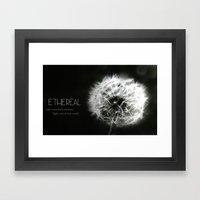 Ethereal Black And White… Framed Art Print