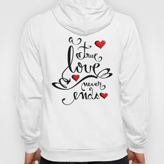 Valentine Love Calligraphy and Hearts Hoody