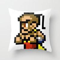 Final Fantasy II - Yang Throw Pillow