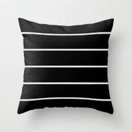 Black White Pinstripes Throw Pillow