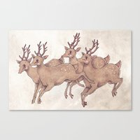 Leap my Deer Canvas Print