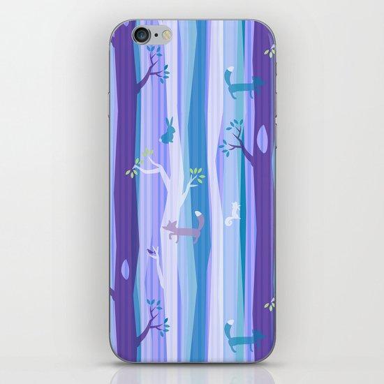 Purple Woodland Stripe iPhone & iPod Skin