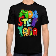 Monster Topia Black SMALL Mens Fitted Tee