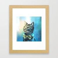 Handsome Cat Framed Art Print
