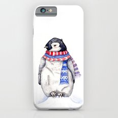 Baby Penguin in Red and Blue Scarf. Winter Season Slim Case iPhone 6s