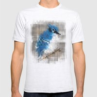 A Blue Jay Today Mens Fitted Tee Ash Grey SMALL