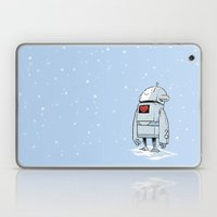 Robot Love Snow Laptop & iPad Skin