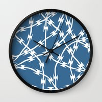 Blue Barb Wall Clock