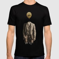 Mr. Whiskers Black Mens Fitted Tee SMALL