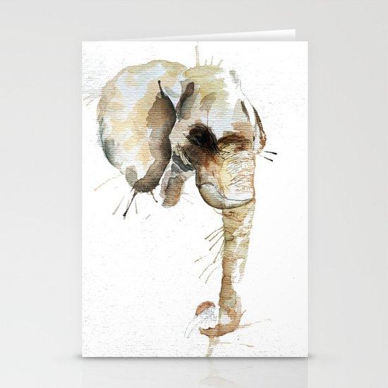 Elephant Head Stationery Card