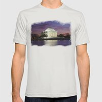 Jefferson Sunset Mens Fitted Tee Silver SMALL