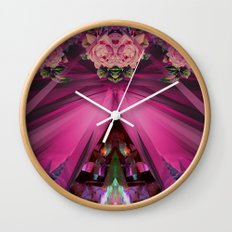 Crystal Blooms Wall Clock