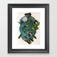 Quantime | Collage Framed Art Print