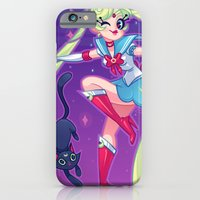 sailor moon iPhone & iPod Cases featuring Sailor Moon by ZoeStanleyArts