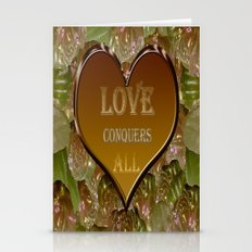 Love Conquers All Gold Flora Stationery Cards
