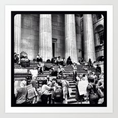 Occupying Wall Street. Art Print