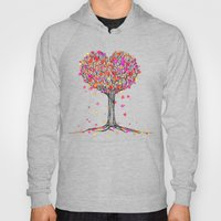 Love in the Fall - Heart Tree Illustration Hoody