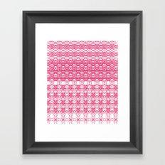 Filigree Floral Framed Art Print
