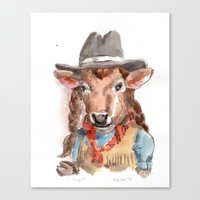Cowgirl Canvas Print