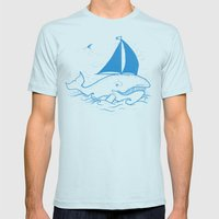 Whaleboat Mens Fitted Tee Light Blue SMALL