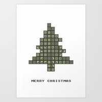 Tetrismas Tree Art Print