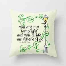 You Are My Lamplight (commission) Throw Pillow