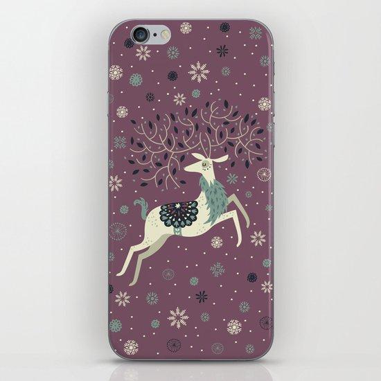 Prancing Reindeer iPhone & iPod Skin
