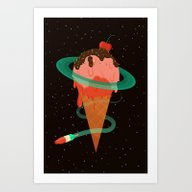 Art Print featuring Ice Cream Planet by BadOdds