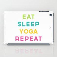 Eat Sleep Yoga Repeat Quote iPad Case
