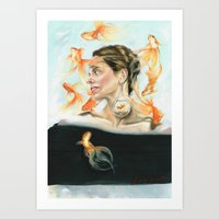 Goldfish Halo Art Print